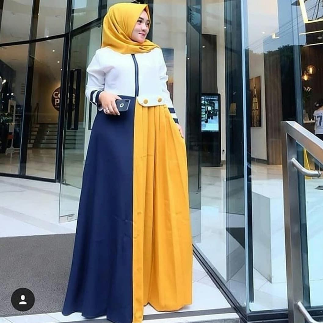 Gamis Hatifa Maxy Dress Balotelly Baju Wanita Muslim Baju Terusan Panjang Hijab Modern Fashion Muslimah Long Pakaian Casual Gaun Lucu Modis Trendy Baju Model Terbaru