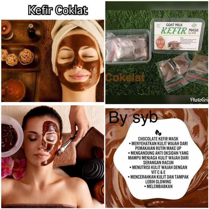 Kidstafun - Chocolate Kefir Mask Original by SYB - Masker Kefir Coklat - Multicolor