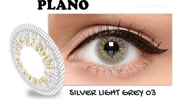 Exoticon Softlens by X2 ICE SILVER LIGHT GREY 03 / NO3 - Normal Plano
