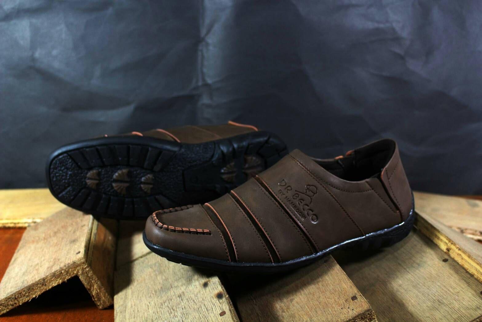 Sepatu Dr Becco Gaya Pria Kasual Trendi Terkini Boots Slipon Pantofel Vans Sintesis Coklat tua