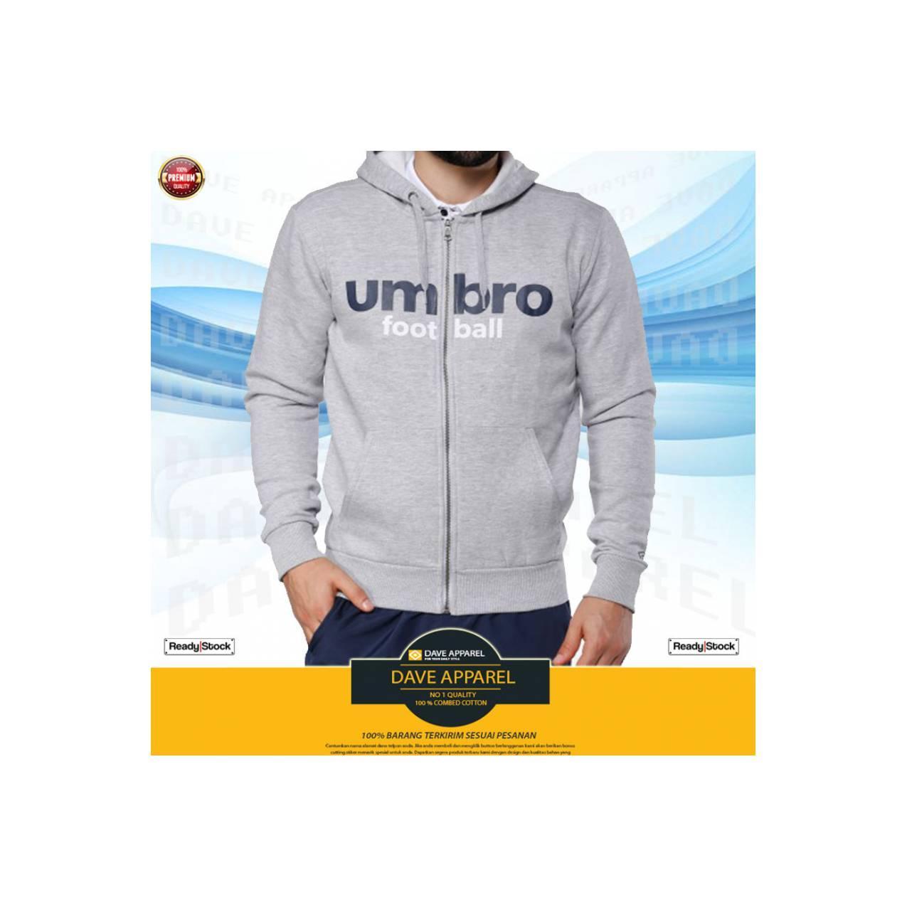 Hoodie/zipper Umbro Football , Sweater Umbro, Jaket Bola Umbro