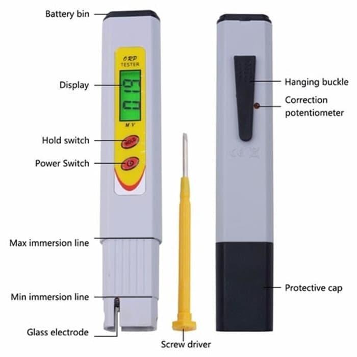 ASLI IMPORT - ORP Tester Kualitas Air Minum Kangen Redox Meter
