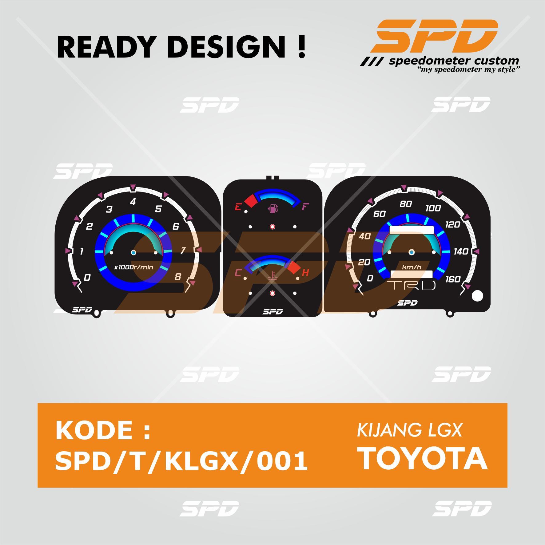 Ready Design Panel Speedometer Custom Toyota Kijang LGX