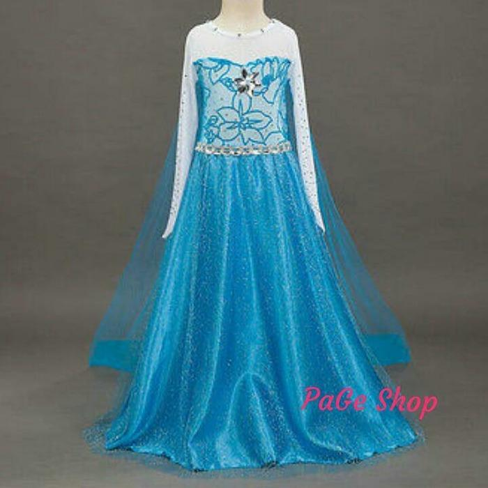 Gaun Elsa Frozen / dress baju pesta impor/TERLARIS