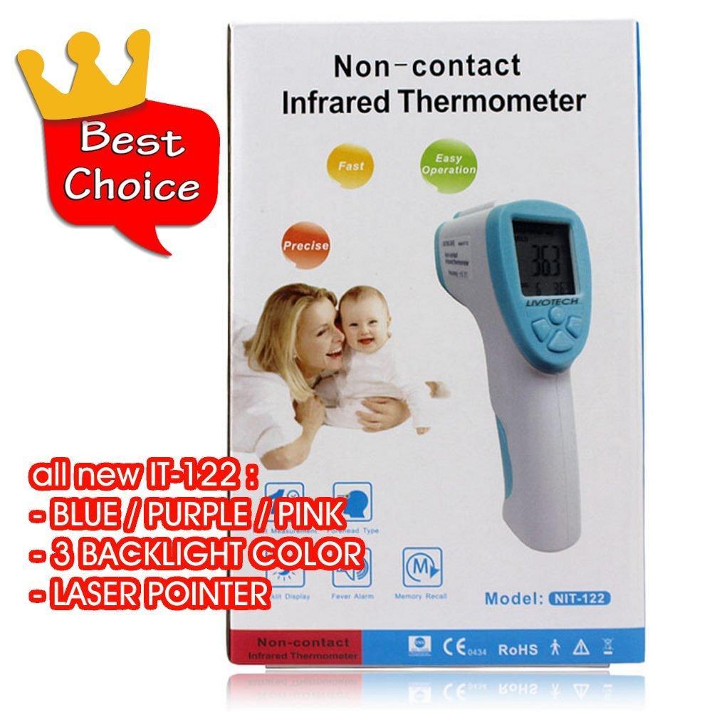 Promosi Hari Ini Termoone Thermometer Digital Elastis Warna Merah Termometer Makanan Bbq Food Cooking Alat Ukur Suhu Masakan Minuman Air Obat Kopi Susu Non Contact Infrared Gun Laser