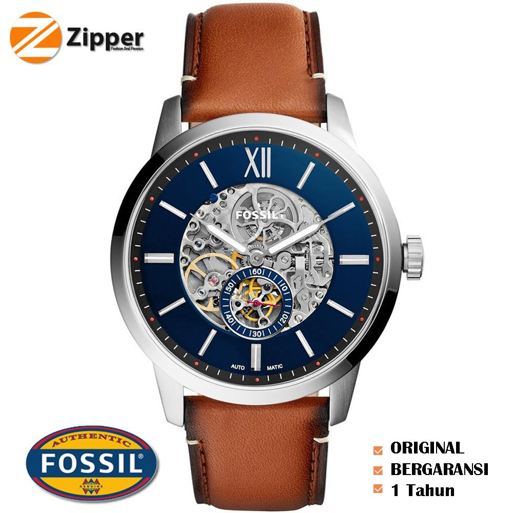 Buy Sell Cheapest Fossil Me3155 Townsman Best Quality Product Jam Tangan Pria Tali Kulit Me3154 Automatic Men Blue Skeleton