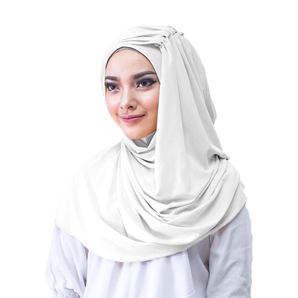Alesya Hijab Jilbab Instan Kerudung Praktis Modis Trendy Terbaru - [Warna Putih]