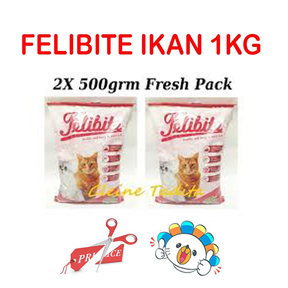 Makanan Kucing Terbaik Cat Food Maxi Repack Chicken And Tuna 500 Gram Cleine Tadita Petshop Felibite Ikan 2 X