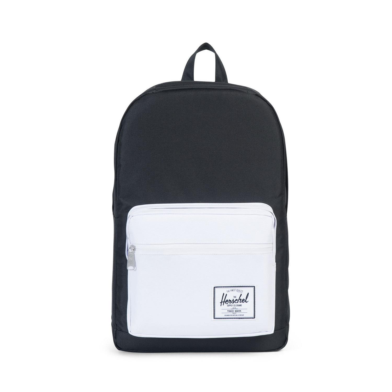 Herschel Pop Quiz, 600D Poly Black White, (22L), Bags, Us