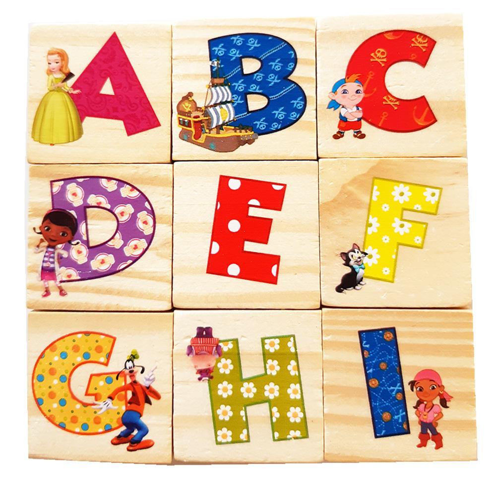MOMO Toys Puzzle Kubus 6 Sisi Angka & Huruf Mainan Edukasi Kayu Anak