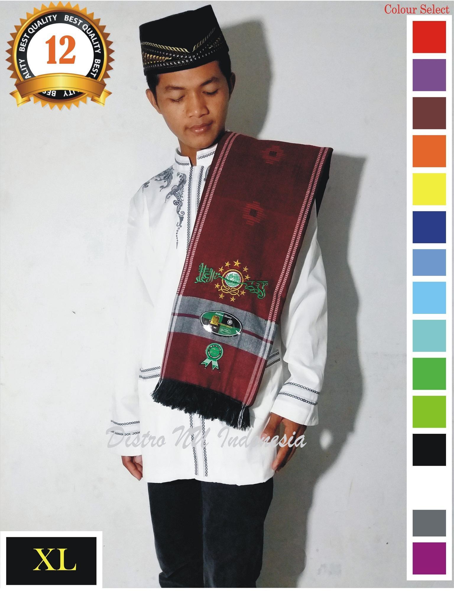 SORBAN NU XL BORDIR TEBAL BAGUS TENUN MO MERAH  / surban / sajadah / sarung / batik nu / jasko / koko / busana muslim / peci / songkok / gamis / jubah / sarung nu / jas nu / jasket / kerudung baru / baju wanita / kemeja / kaos distro / kaos lukis / kopri