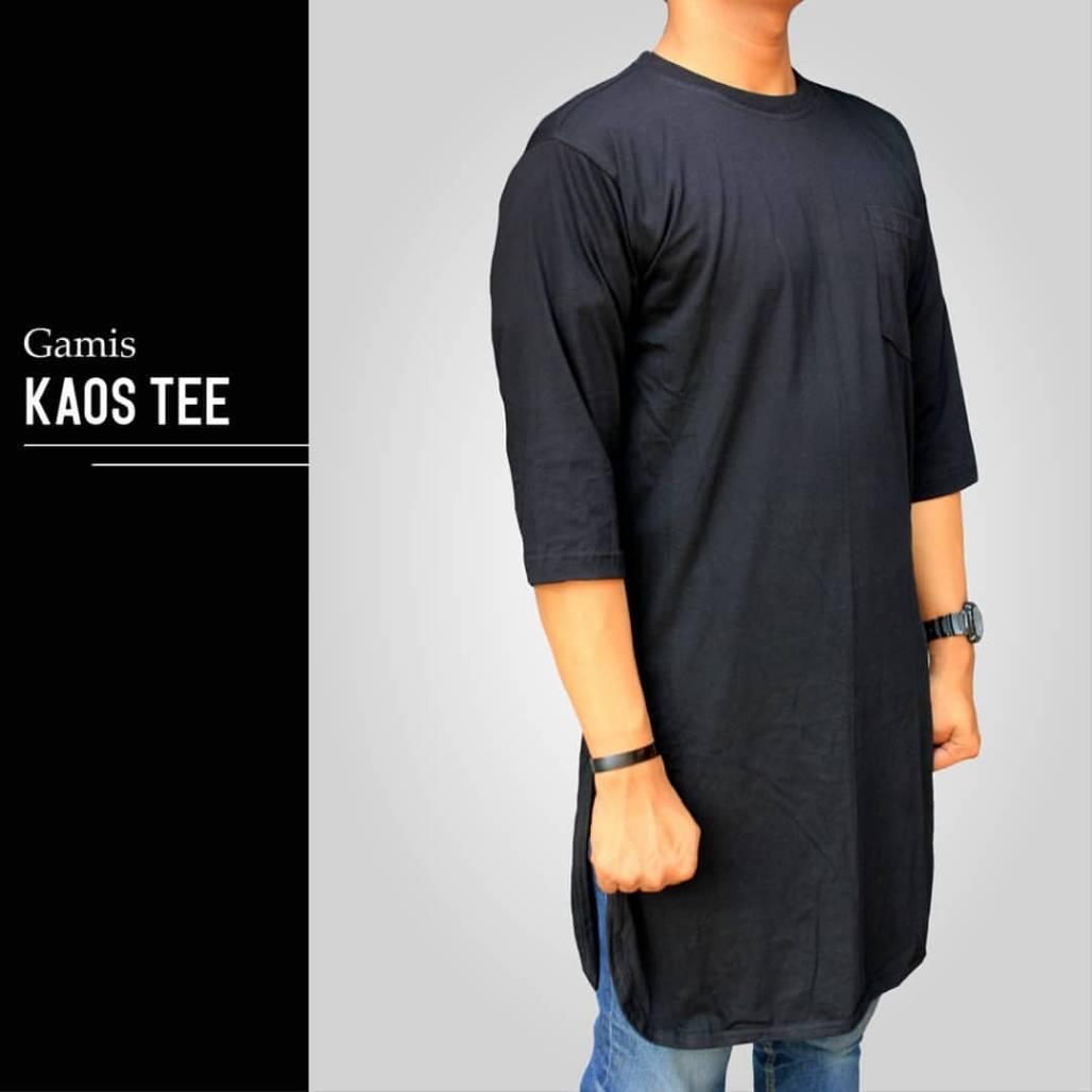 Hna-Baju Kaos Koko Gamis Pakistan-Baju Muslim - Curta By Hna