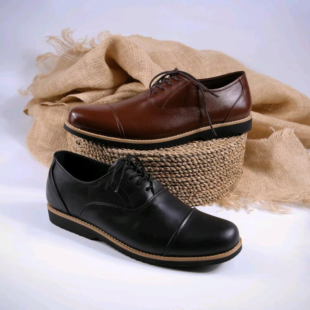 Sepatu Kulit Pantofel Model Leads Boston-Brodo-Bally-Sepatu Kerja-Sepatu Formal