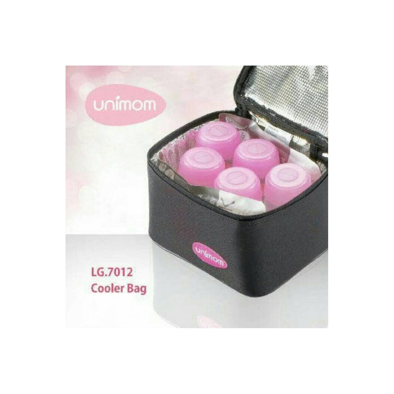 Cooler Bag Unimom | Tas Penyimpanan ASI | Bonus 5 Botol + 2 Ice Gel
