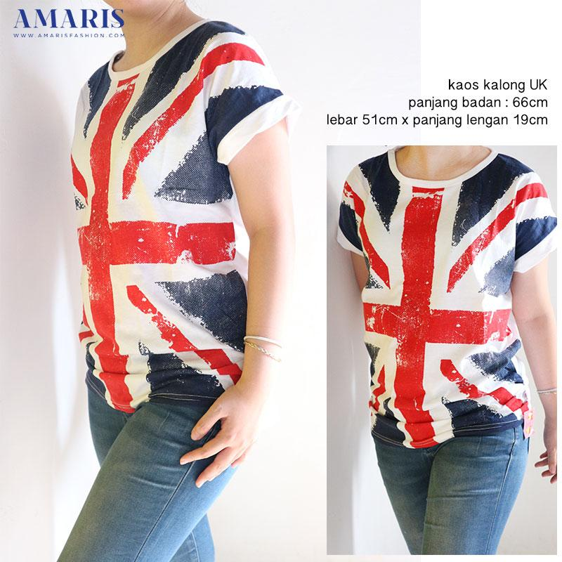 Amaris Fashion - Kaos Kalong Bendera UK - Baju Atasan Wanita
