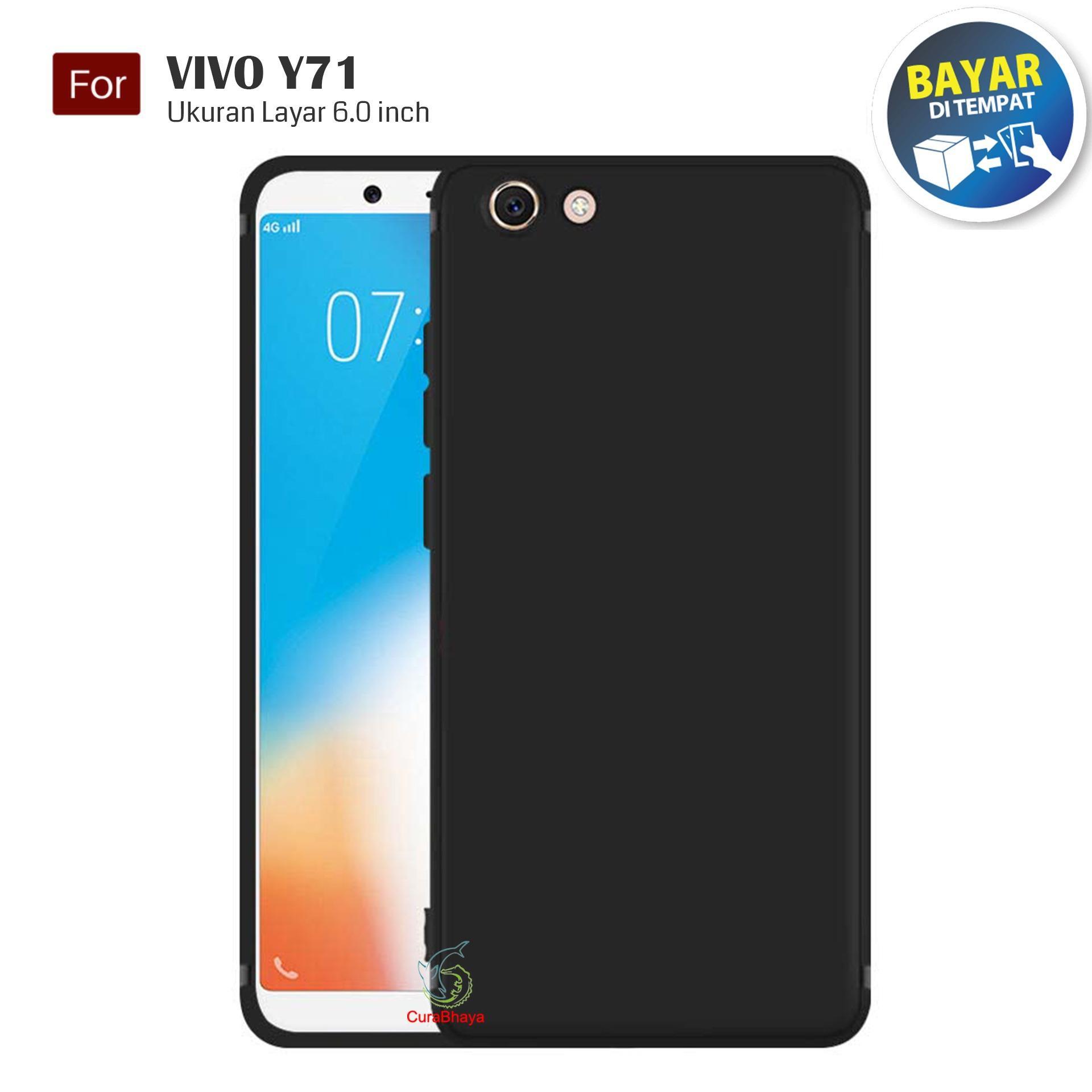 MidNight Vivo Y71 | Slim Case Black Matte Softcase Premium Baby Skin - Hitam