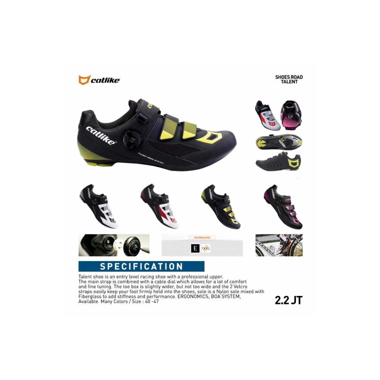 Shoes Catlike Talent Multi-Cleat Road & Mtb BLACK YELLOW Sepatu sepeda