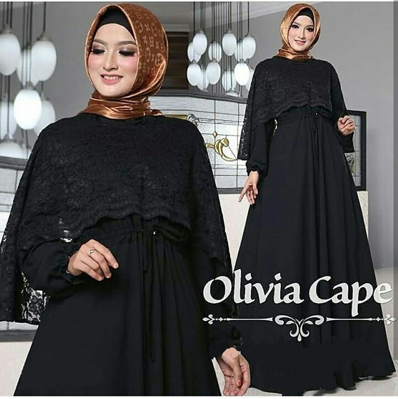 Kedai_baju Gamis Ori / Baju Lebaran / Pakaian Muslim Gamis Hitam Osaka - IA