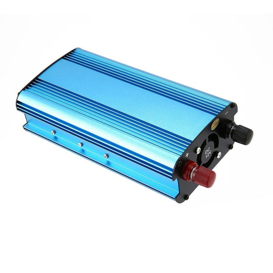 Wond Profesional 4000 W Pengalih Daya DC Ke AC Rumah Kipas Pendingin Pengonversi Mobil Biru DC 12 V untuk AC 220 V