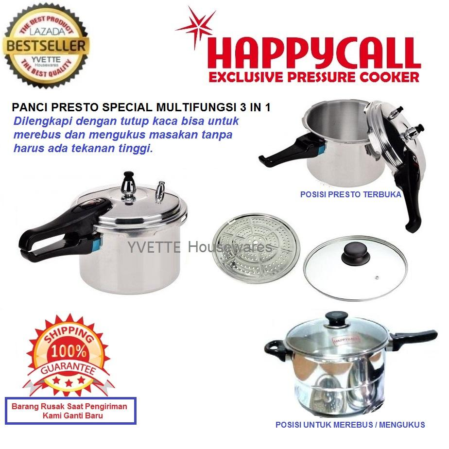 Panci Press Cooker Terlengkap Free Ongkir Oxone Ox 933 Eco Cookware Set Happy Call Presto 3 In 1 Dilengkapi Dengan Tutup Kaca Bisa Untuk Mengukus