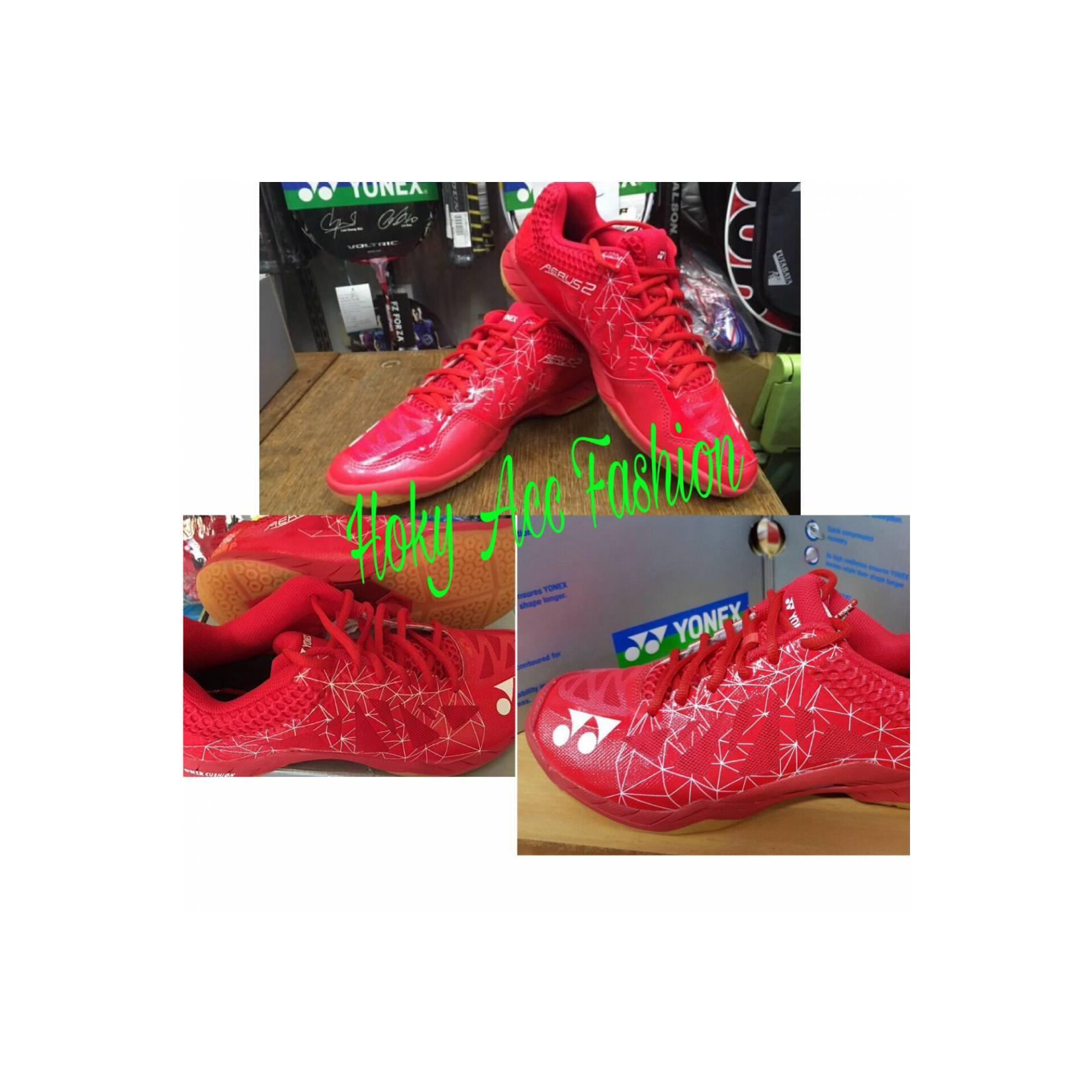 Sepatu Badminton Yonex AERUS 2 Red - Original