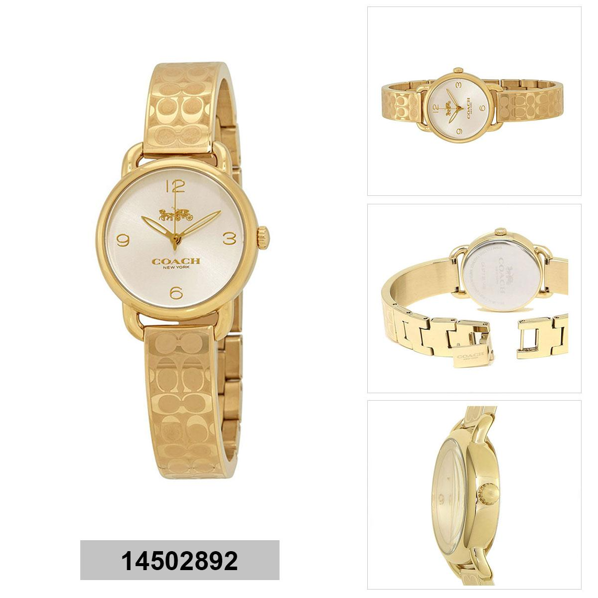 Coach Coach Delancey Gold Stainless-Steel Case Stainless-Steel Bracelet Ladies NWT + Warranty 14502892