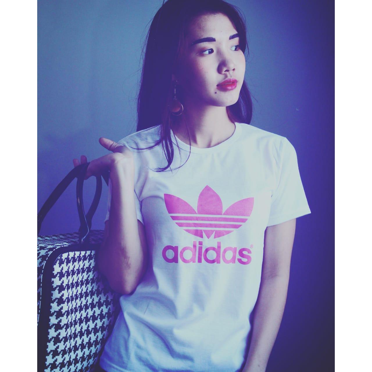 LOLILE Kaos Adidas polos pink #CBA3001