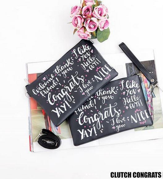 Lytta Mobile Tas Selempang Wanita  Cluth Congrats Black HQ  / Tas Murah / Tas Wanita / Tas Mini Murah / Sling Bag / Tas Sling HP / Tas Mini / Tas Cewek