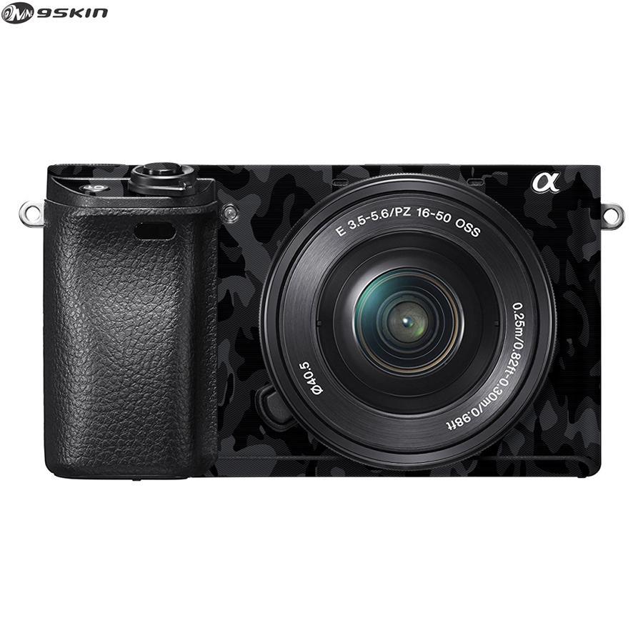 9Skin - Premium Skin Protector untuk Kamera Mirrorless Sony A6300 -  Tekstur Army - Hitam