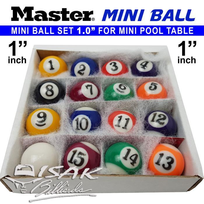 BEST SELLER!!! Master Mini Pool Ball Set - 1.0 Bola Meja Billiard Biliar Mainan Game - b4U1Oj