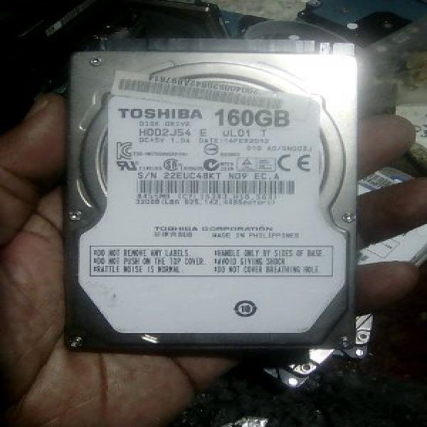 hardisk laptop 160gb seken