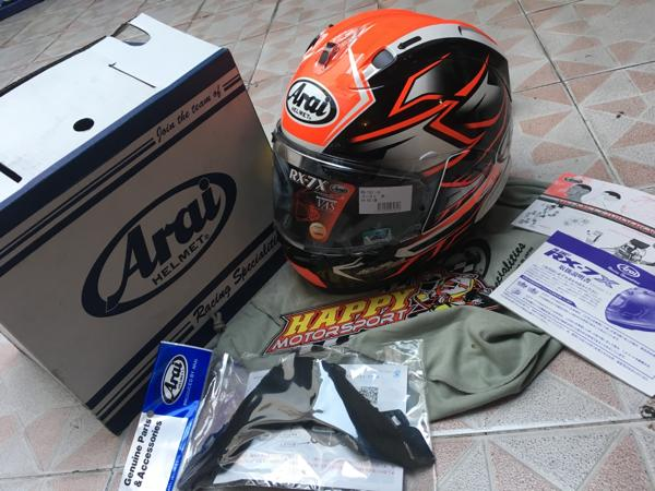 Helm Arai RX7X Ghost Black red U.S.Version size M L XL