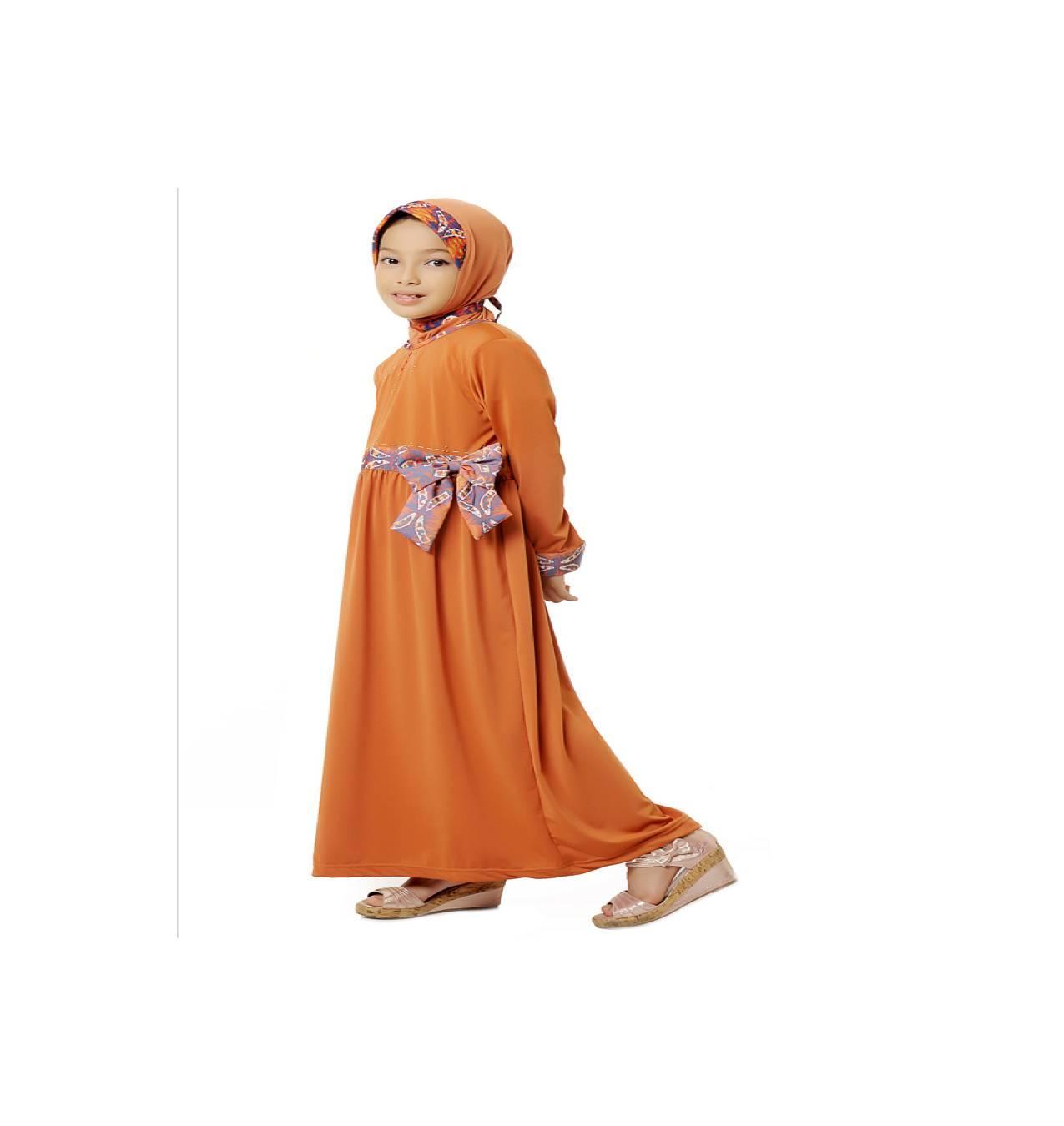 Gamis Anak Azka Azzalfa Gask19 - Safety Orange