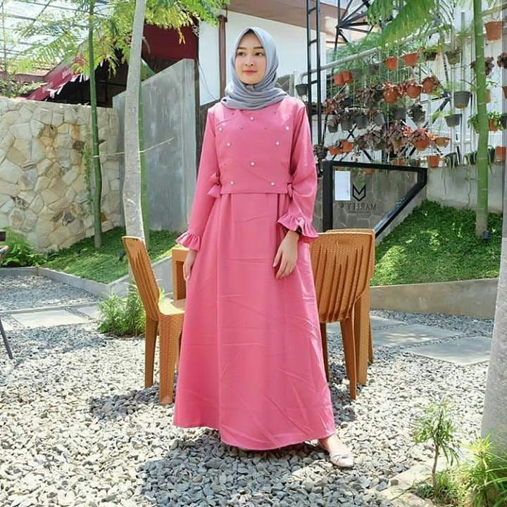 Original Baju Muslim Casandra Maxy Balotely Gamis Panjang Wanita Muslim Dress Murah Fashion Trendy Pakaian Hijab