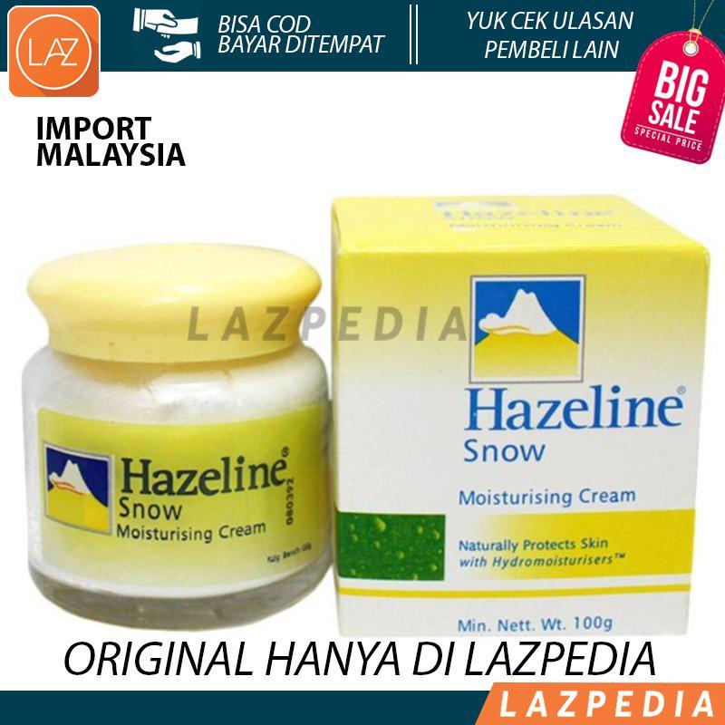 Hazeline Snow 100gram Import Malaysia / Haseline / Obat Jerawat Cream Pelembab Wajah - Lazpedia