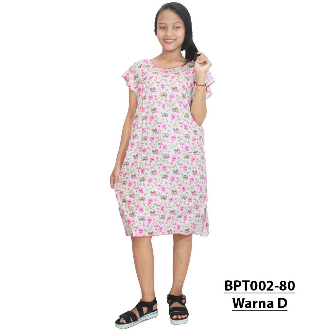 Midi, Daster Midi, Dress Santai, Baju Tidur, Piyama, Atasan Batik (BPT002-80) Batikalhadi Online