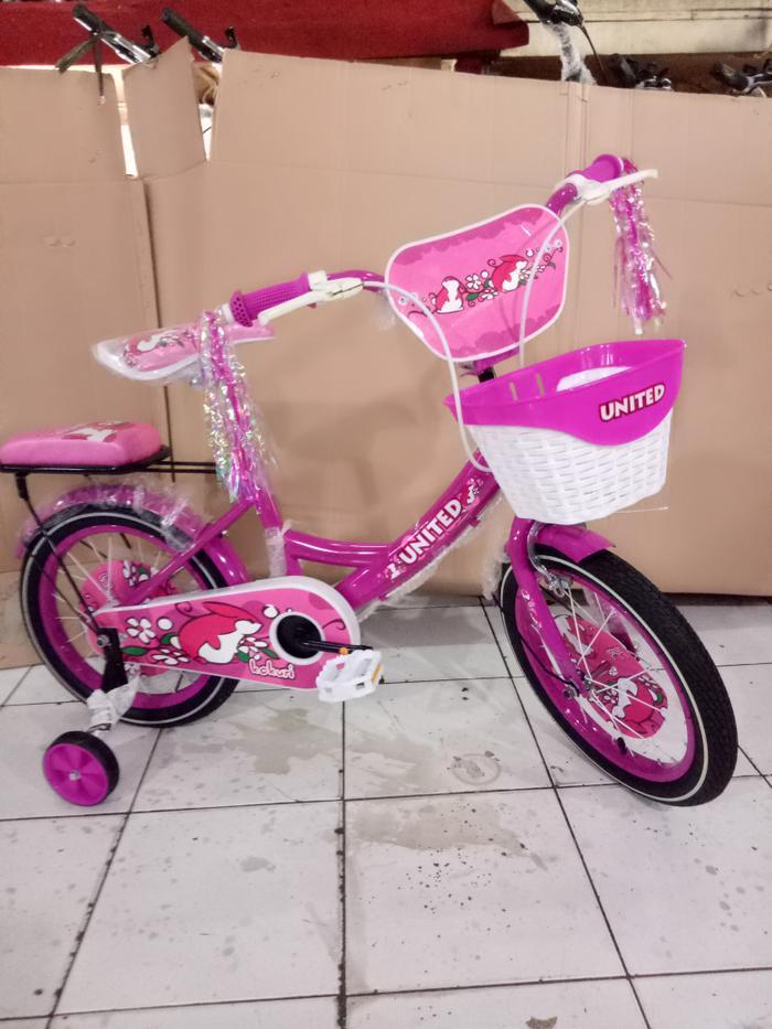 sepeda anak 16 mini united kokuri boncengan