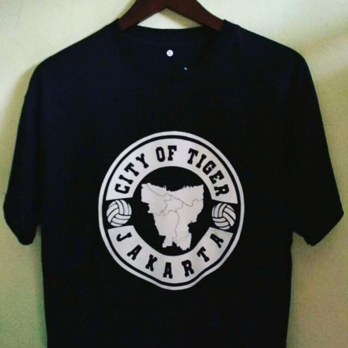 Kaos Tshirt Baju Combed 30S Distro Persija City Of Tiger Jakarta Murah