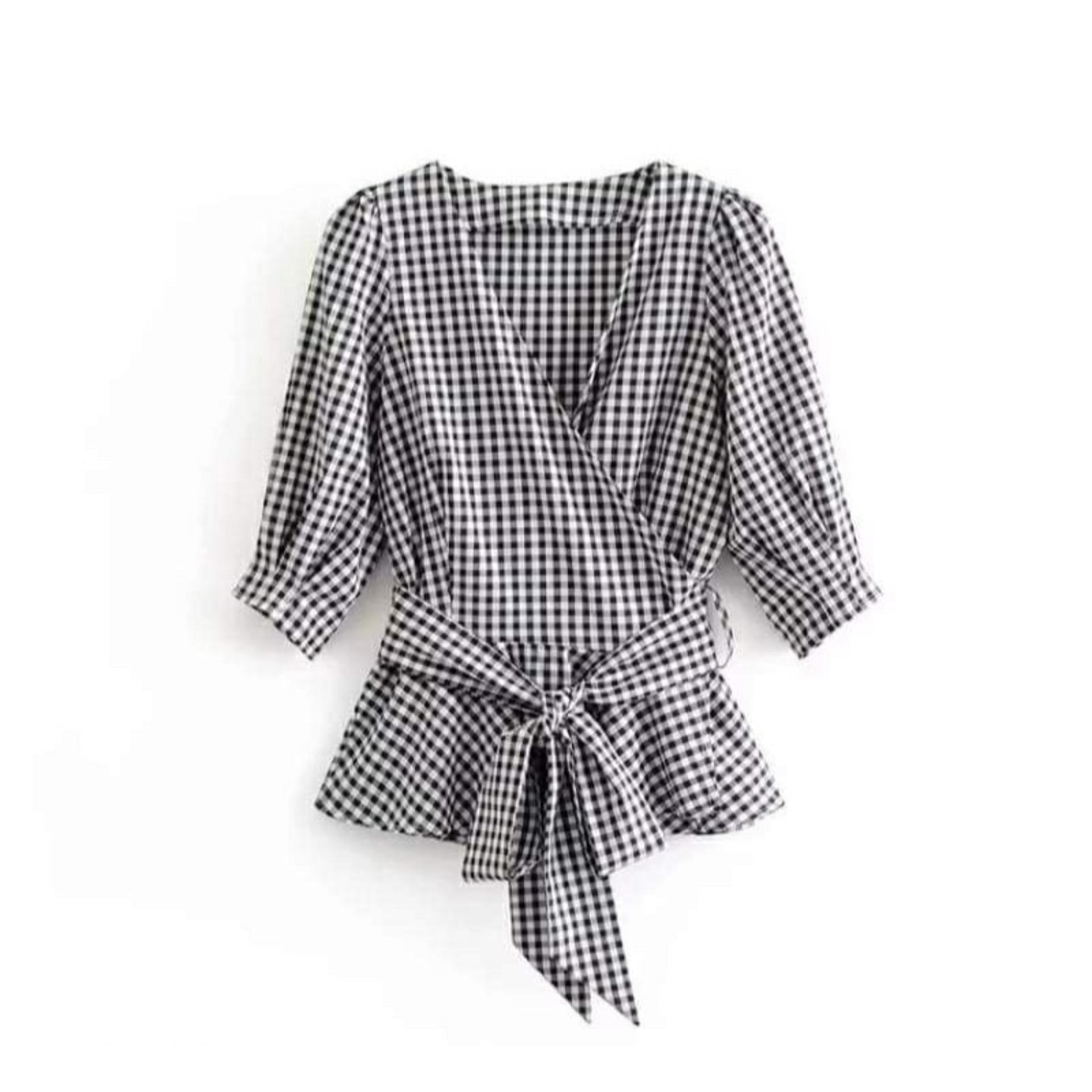 ... Cewek Baju Blouse Casual Cewe Pakaian Kantor Formal. Source · K fashion / era louse / baju tali depan / kemeja sopan / baju muslim /