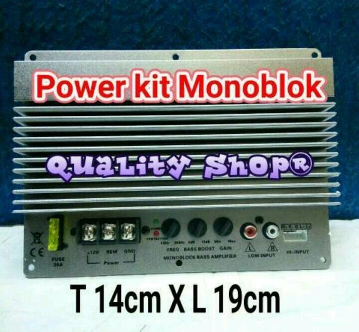 ORIGINALS  Power kit monoblok subwoofer Mobil Class D untuk Speaker 8/10/12 inch