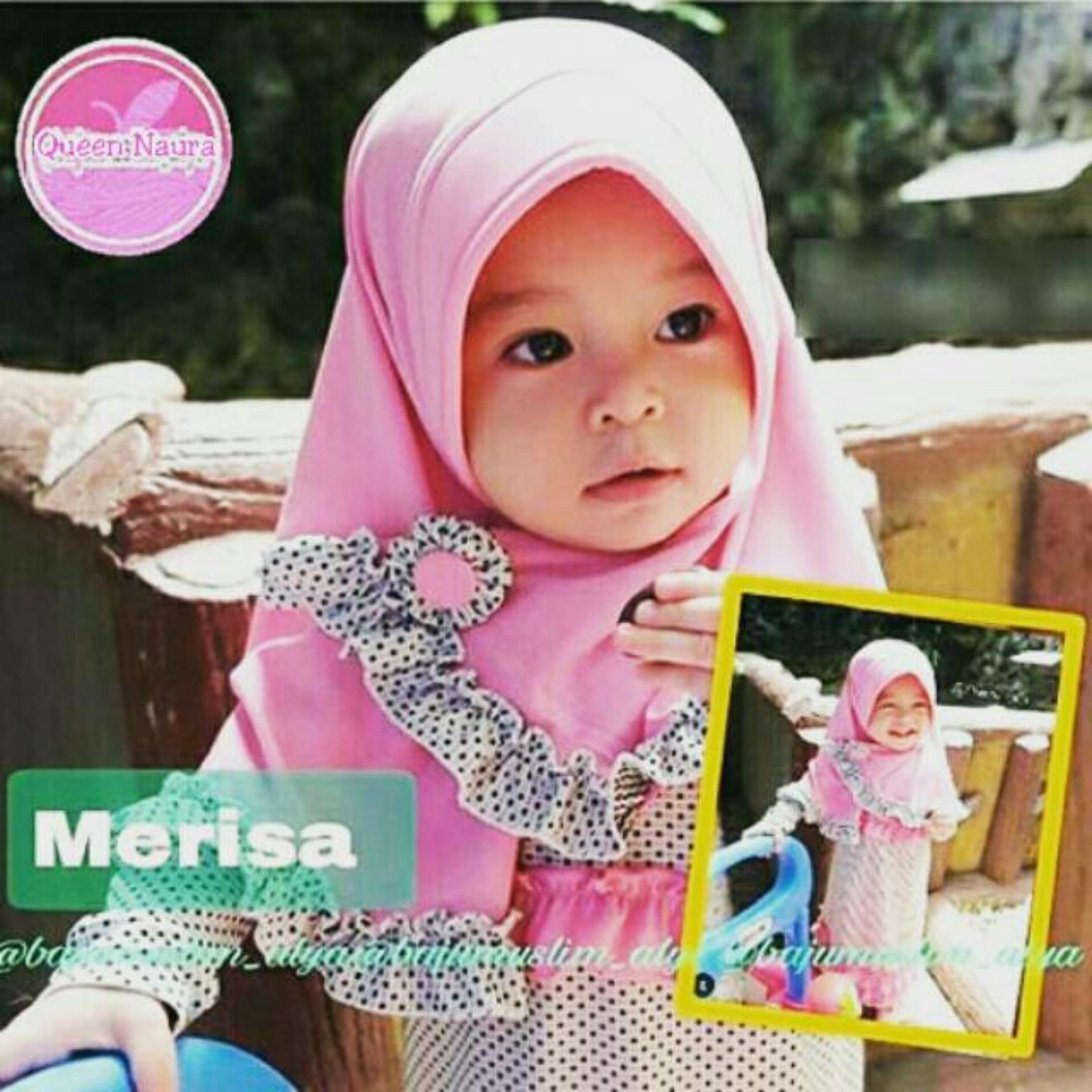 hijab anak merisa / hijab bayi Kerudung instan / hijab instan / jilbab instan