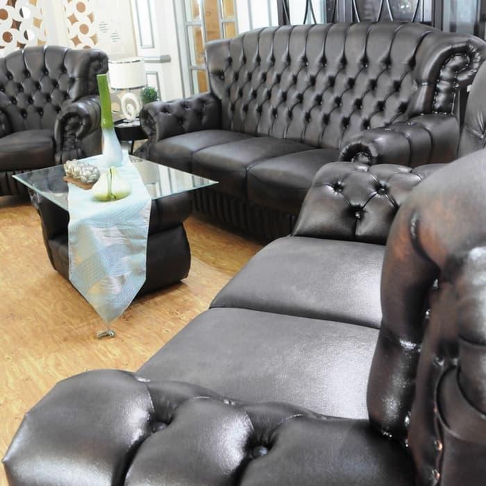 Sofa Set Minimalis Vendita Lombard Mini D630 + Meja - Classic Brown - Khusus Jabodetabek