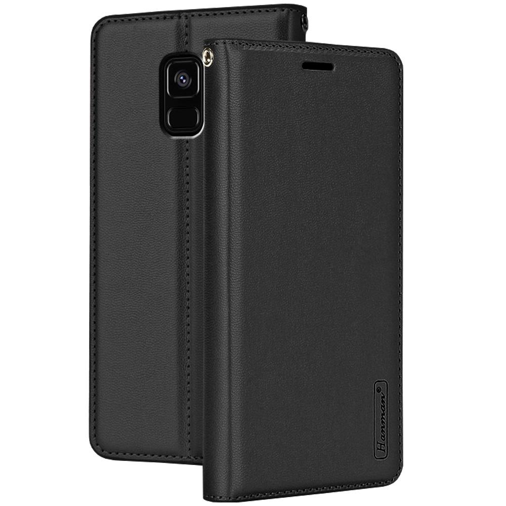 Galaxy A6 2018 Kasus, RUILEAN Premium Leather Shockproof TPU Inner Flip Wallet Magnetic Clourse with