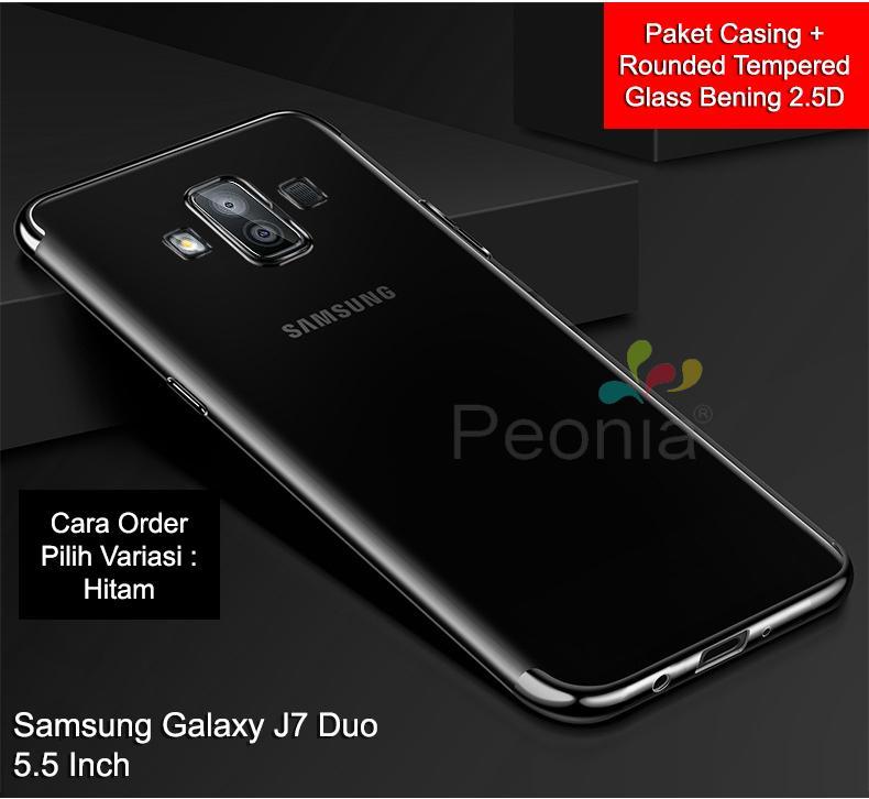 Peonia Case Samsung Galaxy J7 Duo 2018 ( 5.5 Inch ) Casing Electroplating Premium Transparent Ultrathin