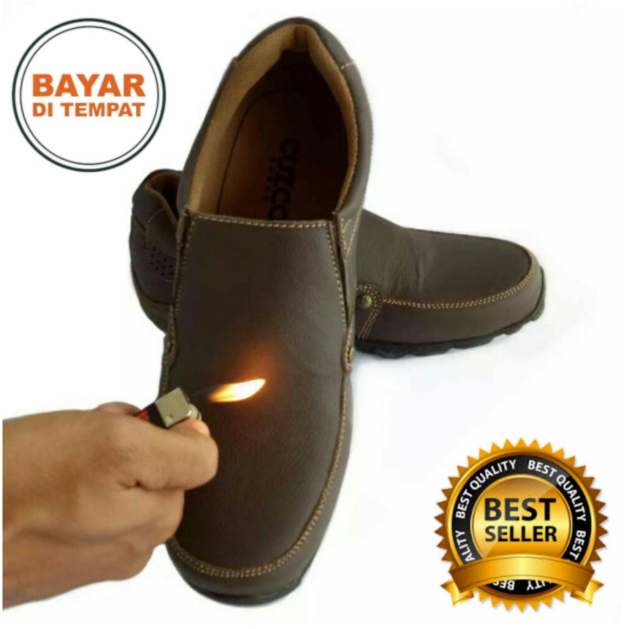 Sepatu Pria Kulit Asli 100%   Sepatu Kulit Pria   Sepatu Kulit Formal Non  Formal 1b2734963f