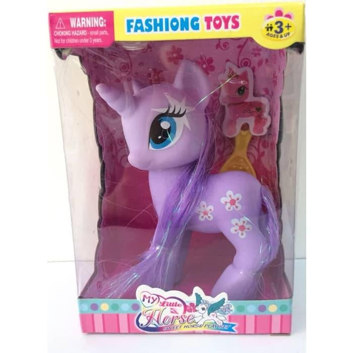 Promo Hemat My Little Pony Horse Mainan Kuda Poni Anak Perempuan 1 Set Warna Ungu Harga