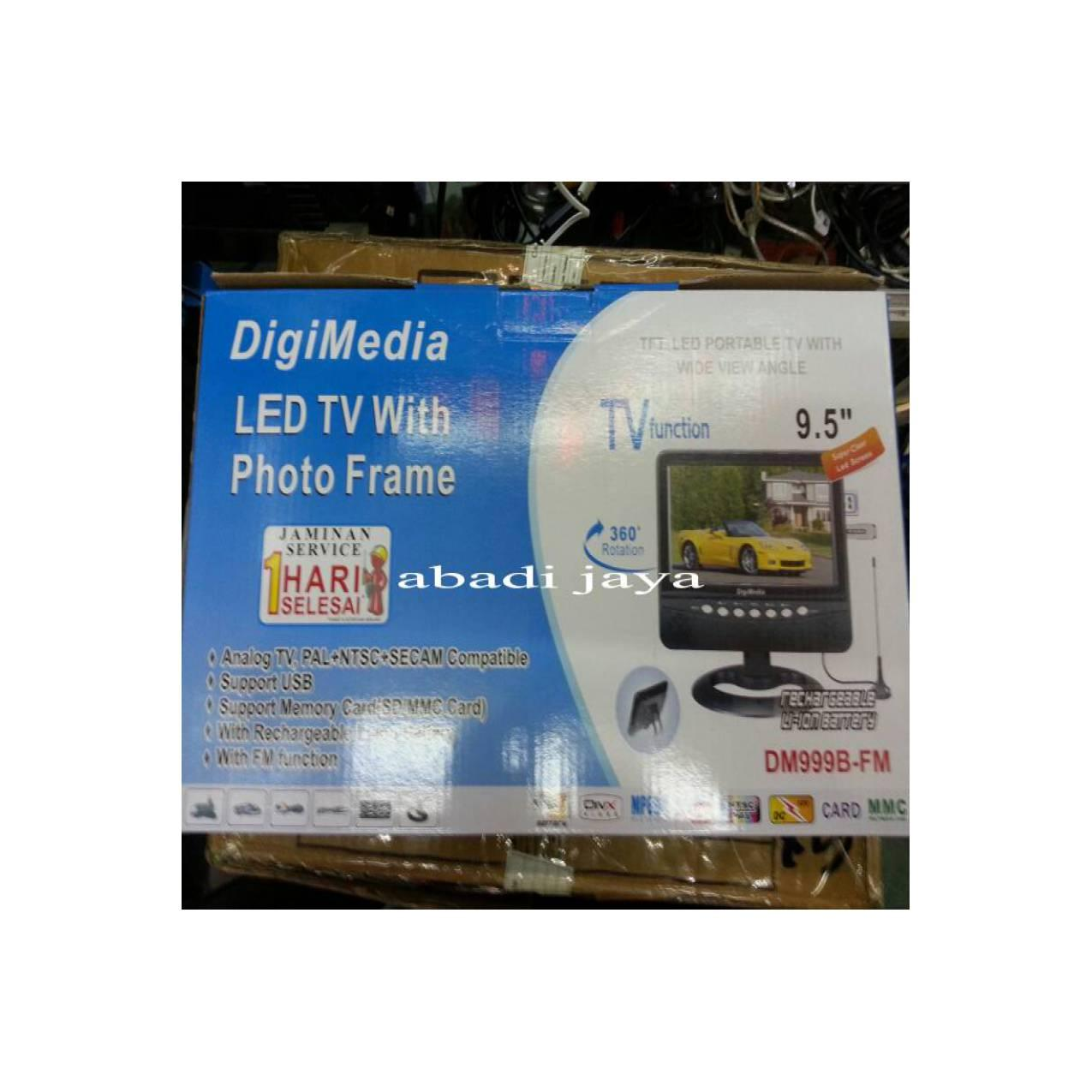 Tv digimedia 9'5inchi tv/usb/sd card/fm