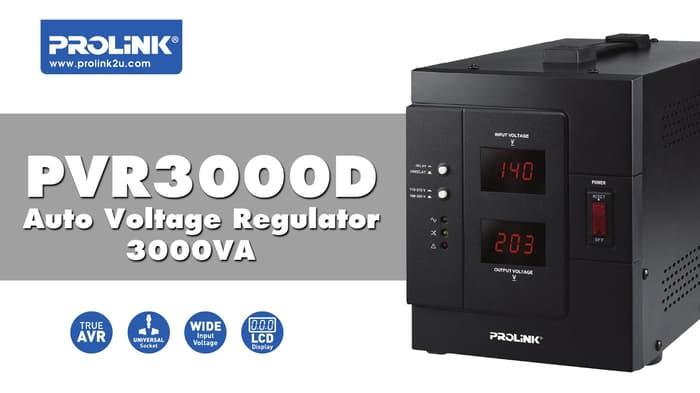 Stabilizer Prolink 3000 Va - Auto Voltage Regulator Pvr3000 D By Kompurindo.