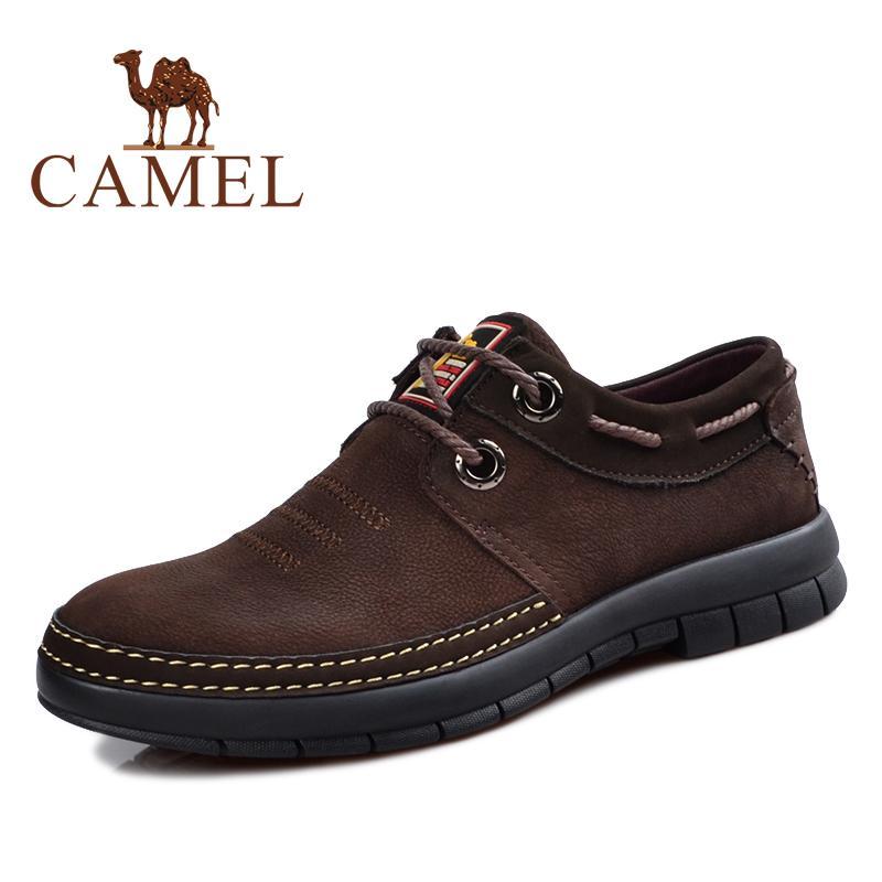 Unta Sepatu Pria Unta Sepatu Tunggal Kulit Kasual Musim Semi atau Musim  Gugur (2063059 Coklat f4140cba4c