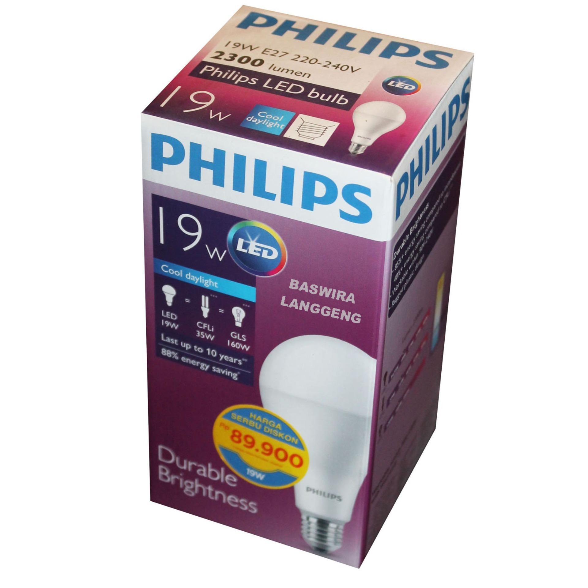 Jual Lampu Philips Terbaik Terbaru Led Bulb 13 Watt 6500k Paket 3 Gratis 1 19 W 19wat 19w Putih